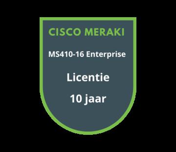 Cisco Meraki Cisco Meraki MS410-16 Enterprise Licentie 10 jaar