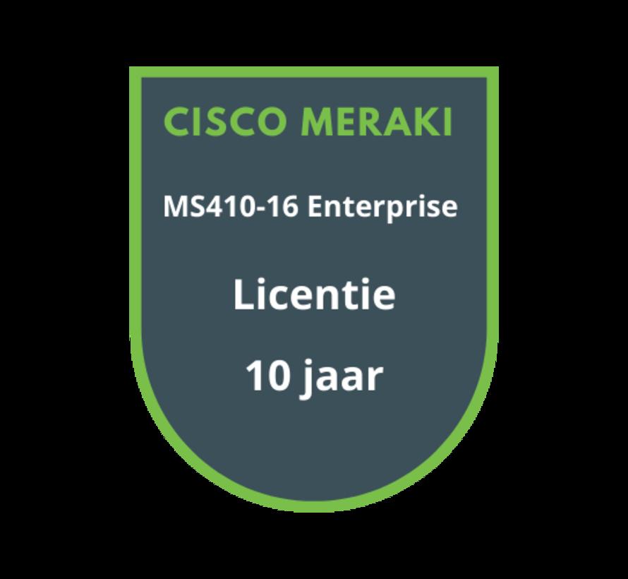 Cisco Meraki MS410-16 Enterprise Licentie 10 jaar