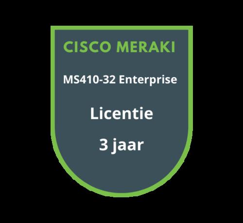 Cisco Meraki Cisco Meraki MS410-32 Enterprise Licentie 3 jaar
