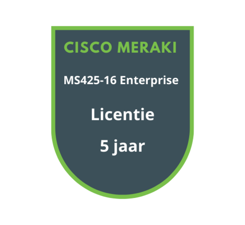Cisco Meraki Cisco Meraki MS425-16 Enterprise Licentie 5 jaar