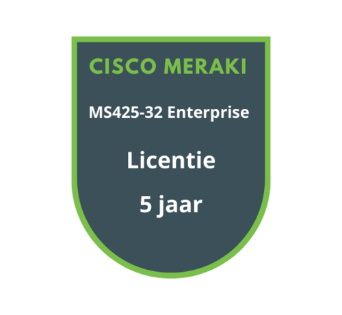 Cisco Meraki Cisco Meraki MS425-32 Enterprise Licentie 5 jaar