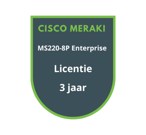 Cisco Meraki Cisco Meraki MS220-8P Licentie 3 jaar