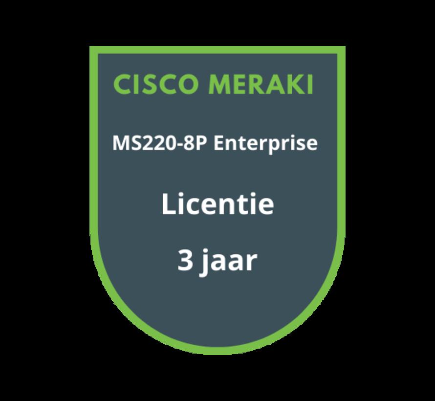 Cisco Meraki MS220-8P Licentie 3 jaar