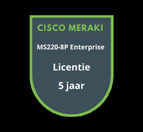 Cisco Meraki Cisco Meraki MS220-8P Licentie 5 jaar
