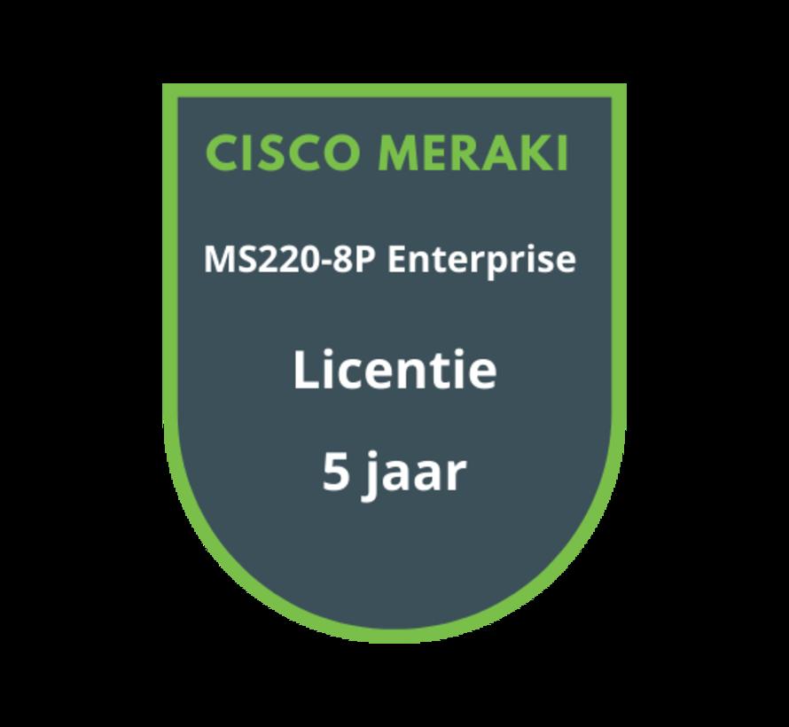 Cisco Meraki MS220-8P Licentie 5 jaar