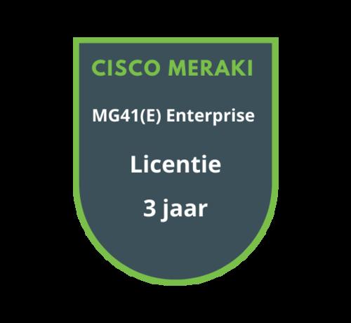 Cisco Meraki Meraki MG41(E) Enterprise Licentie 3 Jaar