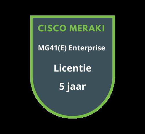 Cisco Meraki Cisco Meraki MG41(E) Enterprise Licentie 5 Jaar