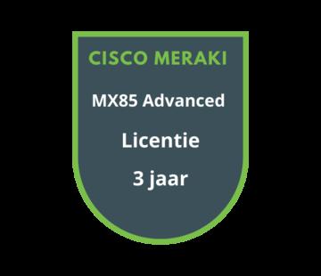 Cisco Meraki Cisco Meraki MX85 Advanced Licentie 3 jaar