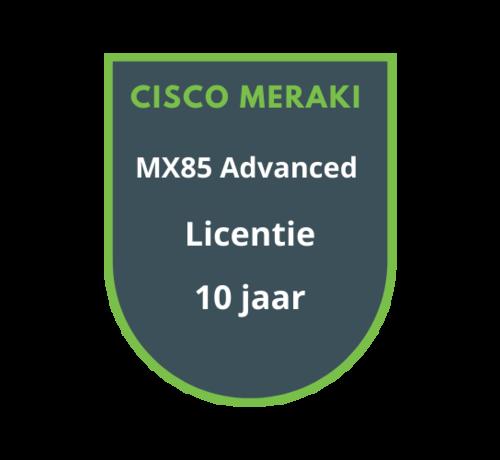 Cisco Meraki Cisco Meraki MX85 Advanced Licentie 10 jaar