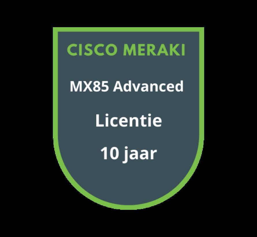 Cisco Meraki MX85 Advanced Licentie 10 jaar