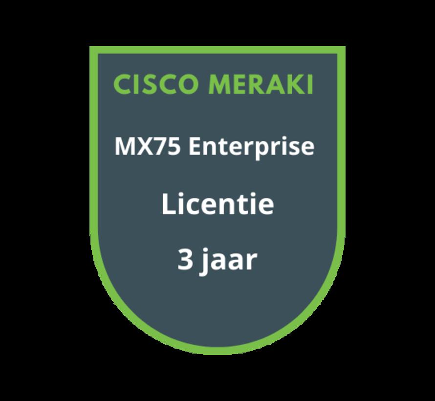 Cisco Meraki MX75 Enterprise Licentie 3 jaar