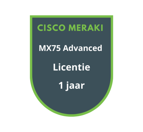 Cisco Meraki Cisco Meraki MX75 Advanced Licentie 1 jaar