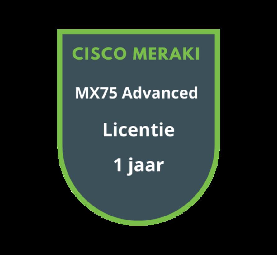 Cisco Meraki MX75 Advanced Licentie 1 jaar