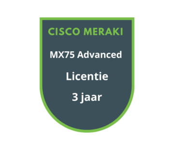 Cisco Meraki Cisco Meraki MX75 Advanced Licentie 3 jaar
