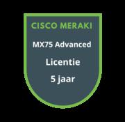 Cisco Meraki Cisco Meraki MX75 Advanced Licentie 5 jaar