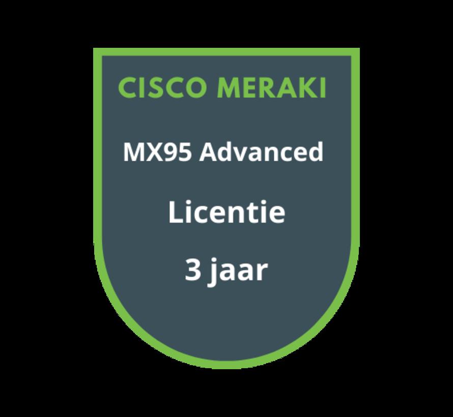 Cisco Meraki MX95 Advanced Licentie 3 jaar