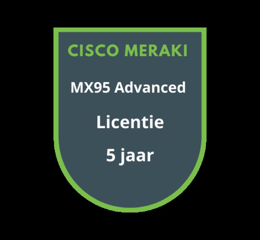 Cisco Meraki MX95 Advanced Licentie 5 jaar