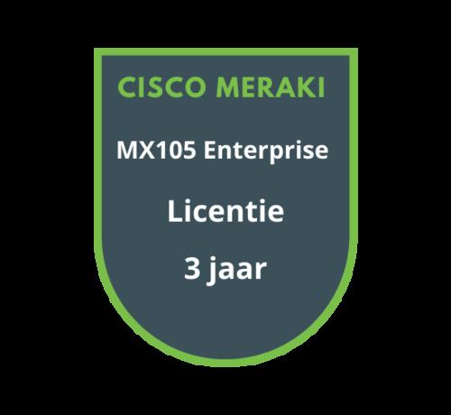 Cisco Meraki Cisco Meraki MX105 Enterprise Licentie 3 jaar