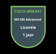 Cisco Meraki Cisco Meraki MX105 Advanced Licentie 1 jaar