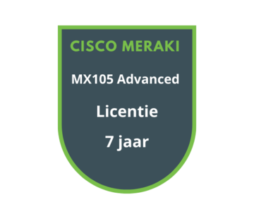 Cisco Meraki Cisco Meraki MX105 Advanced Licentie 7 jaar