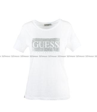 GUESS GUESS - SS CN GLITTER TEE - W93180K7WS0A000