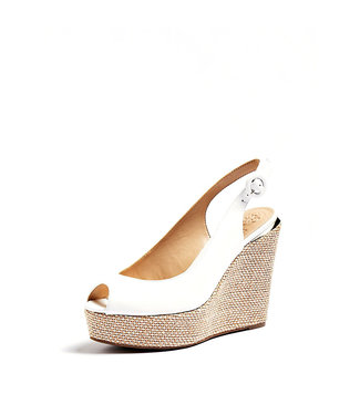 GUESS GUESS - HARDY/ZEPPA (WEDGE)/LEATHER - FL6HRDLEA04WHITE