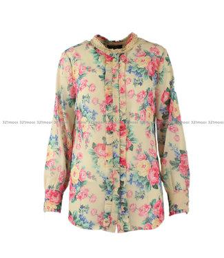 TWINSET MY TWIN TWINSET MY TWIN - woven shirt st flowers bianco panno - 191MP233303462