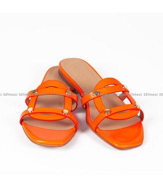 MARCH23 MARCH 23 slipper - YORK nappa fluo orange - A3301YORKNAPPAfluo