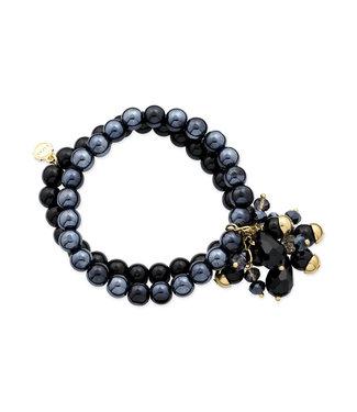 LIZAS Armband 10004869 (G/P) zwart/blauw mix