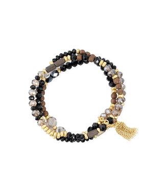 LIZAS Armband 10004971 (G/M) zwart