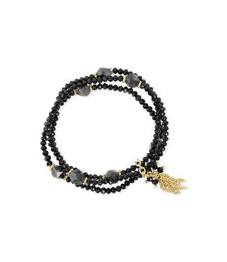 LIZAS Armband 10004982 (G/P) zwart