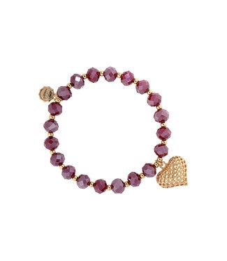 LIZAS Armband 10005241 (G/M) rood