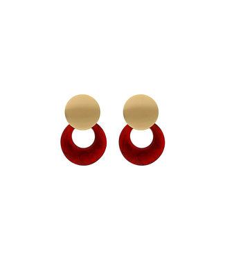 LIZAS oorbellen 36511 (G/M) rood