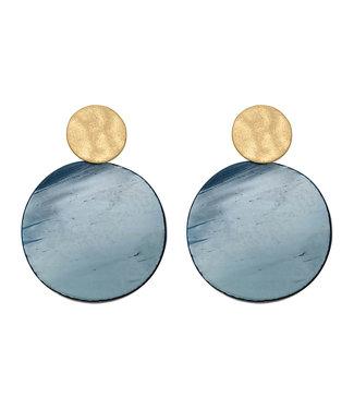 LIZAS oorbellen ARVADA (G/M) donkerblauw