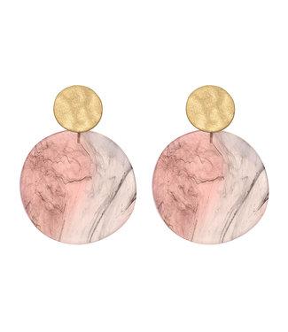 LIZAS oorbellen ARVADA (G/M) roze