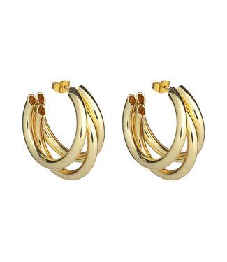 LIZAS oorbellen 36434 (G/P) gold