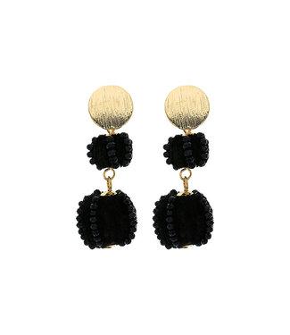 LIZAS oorbellen 36361 (MG/M) zwart
