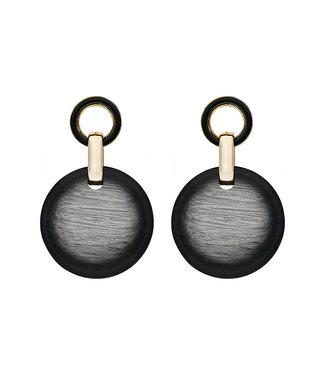 LIZAS oorbellen 36543 (G/P) zwart