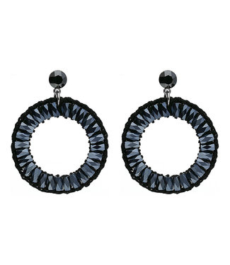 LIZAS oorbellen 36830 (S/P) zwart