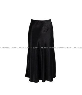 LIV THE LABEL LIV THE LABEL  - DIRAND - a line floaty midi skirt - black
