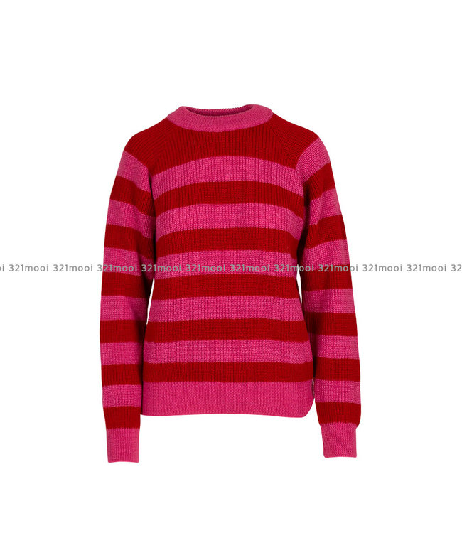 LIV THE LABEL LIV THE LABEL  - KLINT - round neck striped sweater