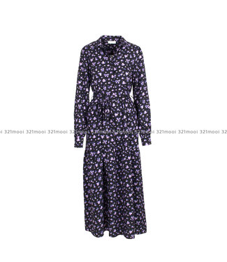 LIV THE LABEL LIV THE LABEL  - EERO - maxi buttoned down dress with long sleeves - purple flowers