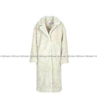 LIV THE LABEL LIV THE LABEL  - ZAHA - oversized teddy coat - off white