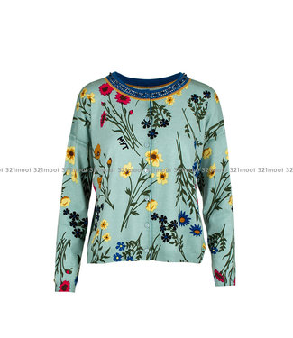 TWINSET MY TWIN TWINSET My Twin - knitted sweater st flowers - 192MP323004081