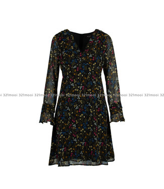 TWINSET MY TWIN TWINSET My Twin - woven dress st micro flowers nero - 192MP222804022