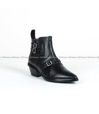 MARCH23 MARCH23 - enkellaarsjes - UMA-Black Leather