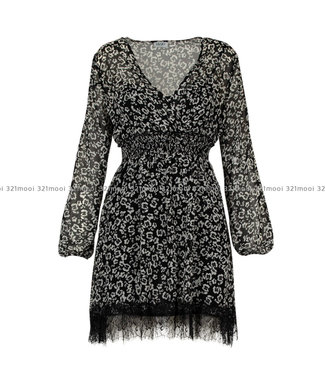 LIU JO LIU JO - MANHATTAN,georgette  -  DRESS - BLACK FLOWERING