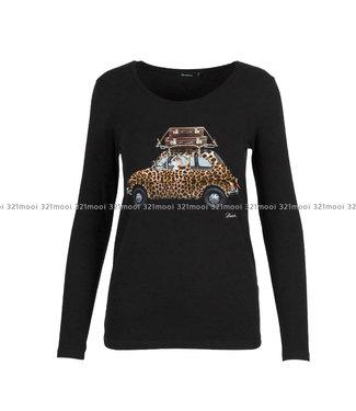 DURANTI DURANTI - T-shirt Leopard Car LSO BK