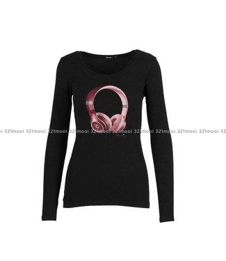 DURANTI DURANTI -  T-shirt Headphones LSO BK