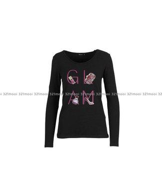 DURANTI DURANTI -  T-shirt GLAM LSO-BK